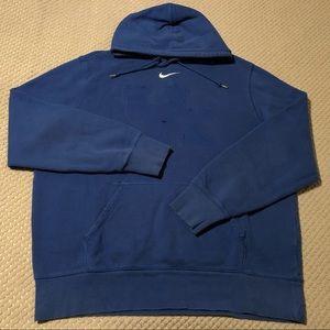 Nike Center Swoosh Distressed Blue/White Hoodie